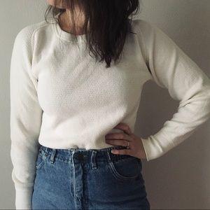 Vintage Cream Henley Long Underwear Shirt